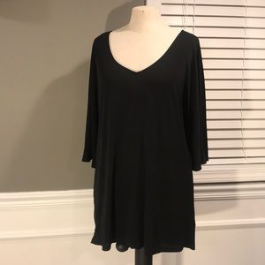 black blouse with dolman sleeve